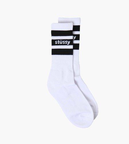 Stussy Stussy Sport Crew Socks White Black