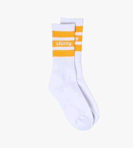 Stussy Stussy Sport Crew Socks White Orange