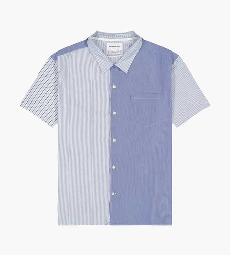 Norse Projects Norse Projects Carsten Poplin Shirt Mixed Stripe Navy