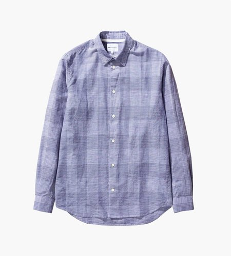 Norse Projects Norse Projects Hans Cotton Linen Check Shirt Twilight Blue
