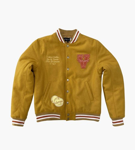 Ceizer Ceizer Van Gogh Wool Varsity Jacket Yellow