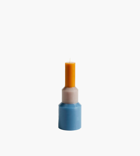 Hay Hay Pillar Candle M Blue