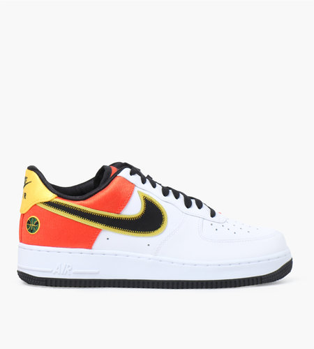 Nike Nike Air Force 1 '07 LV8 White Black Orange Flash Amarello