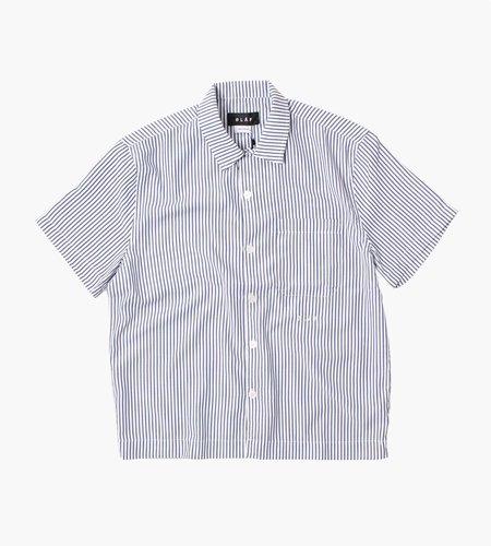 Olaf Hussein Olaf Hussein ØLÅF Short Sleeve Stripe Shirt Navy White
