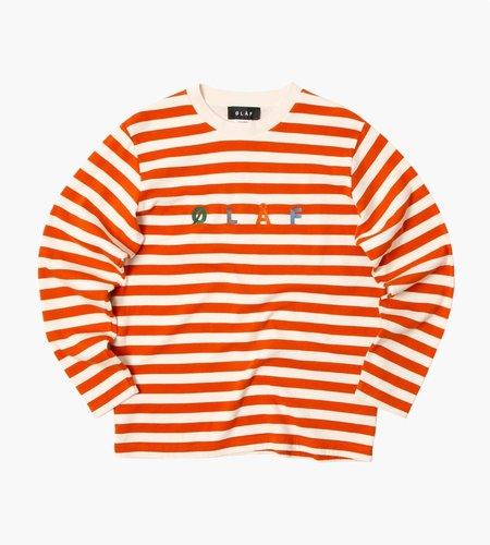 Olaf Hussein Olaf Hussein ØLÅF Stripe Sans Longsleeve Orange White