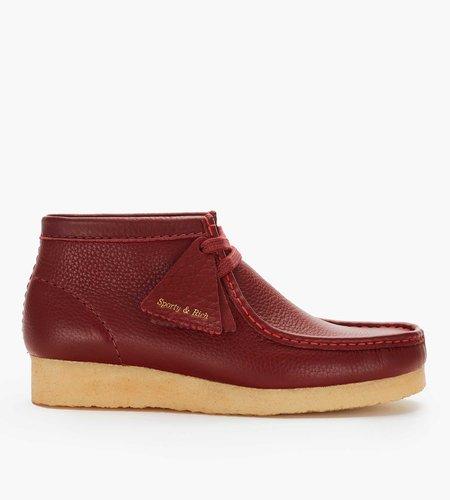 Clarks Originals Clarks Originals x Sporty & Rich Wallabee Boot. W Burgundy Leather