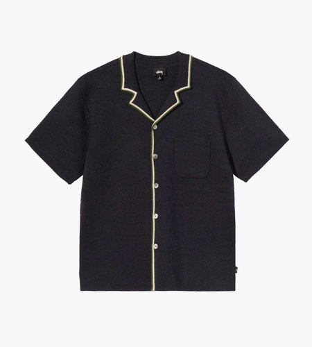 Stussy Stussy Stripe Edge Knit Shirt Navy