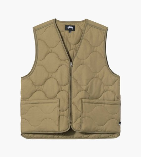 Stussy Stussy Quilted Liner Vest Coyote
