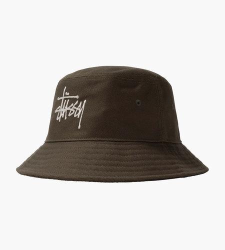 Stussy Stussy Big Logo Twill Bucket Hat Olive