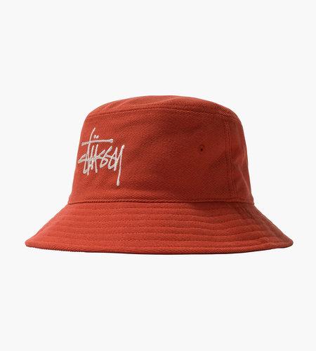 Stussy Stussy Big Logo Twill Bucket Hat Orange