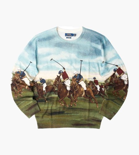Polo Ralph Lauren Polo Ralph Lauren Polo Club 3 Scenic Long Sleeve Sweater Scenic Multi