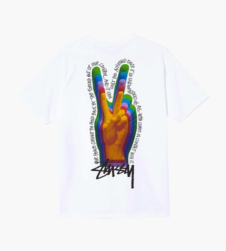 Stussy Stussy Peace Sign Tee White