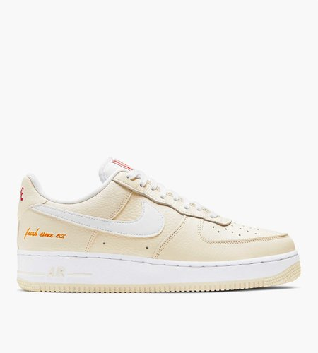 Nike Nike Air Force 1 '07 PRM Popcorn Emb Coconut Milk White-University Red