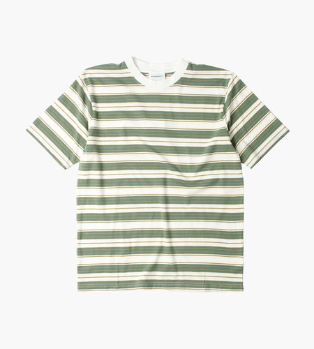 Norse Projects Norse Projects Johannes T-Shirt Multi Stripe Moss Green