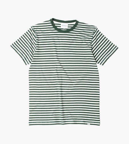 Norse Projects Norse Projects Niels Classic Stripe T-Shirt Dartmouth Green