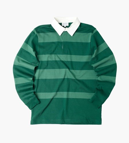 Norse Projects Norse Projects Ruben Polo Block Stripe Dartmouth Green