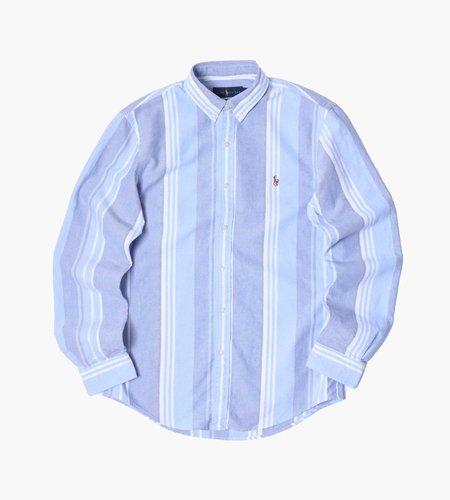 Polo Ralph Lauren Polo Ralph Lauren M Classics 2 Long Sleeve Sport Shirt 5151 Blue White
