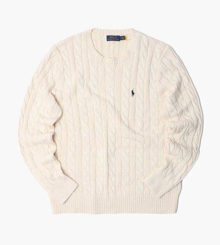 Polo Ralph Lauren Polo Ralph Lauren Ls Driver Cn Long Sleeve Sweater Andover Cream