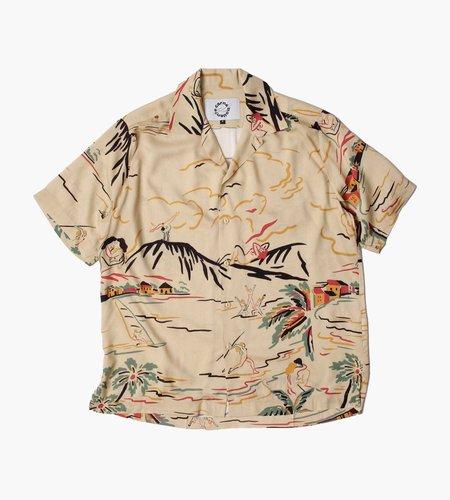 Carne Bollente Carne Bollente Hawaiian Squirt Shirt Beige