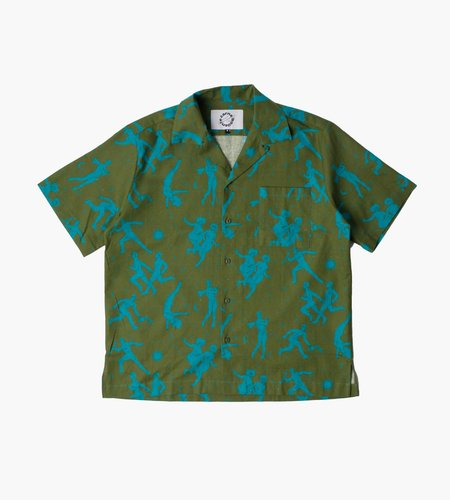 Carne Bollente Carne Bollente The Sighing Game Shirt Olive Green