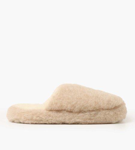 Yoko Wool Yoko Wool Basic Slipper Beige