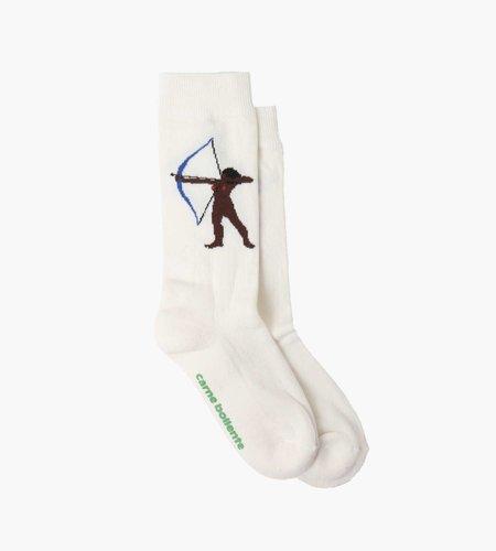 Carne Bollente Carne Bollente Jerk Me If You Can Socks White