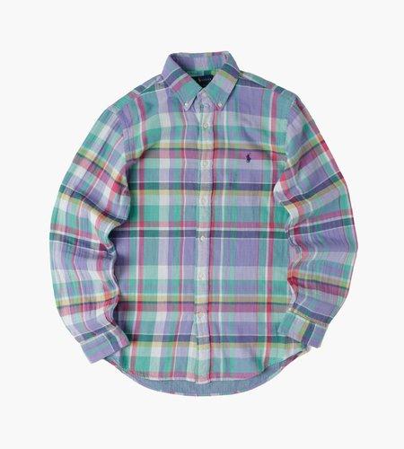 Polo Ralph Lauren Polo Ralph Lauren M Classics 1 Long Sleeve Sport Shirt 5293 Turquoise Purple Multi