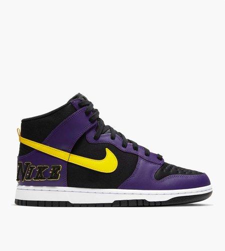 Nike Nike Dunk Hi Prm Emb Black Opti Yellow Court Purple White