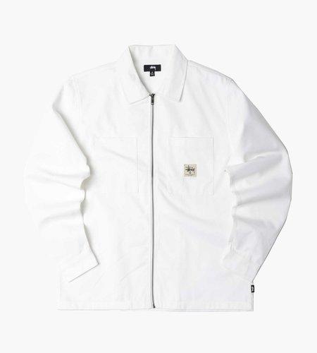 Stussy Stussy Zip Up Work Ls Shirt Off White