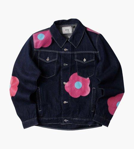 Arte Antwerp Arte Antwerp Josh Denim Rosa Jacket Navy Pink
