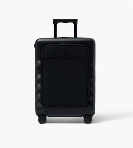Nortvi Nortvi Midnight Black Front Pocket 39L Suitcase