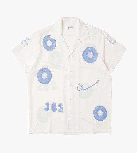 Reception Reception Bowling Shirt Crepe White