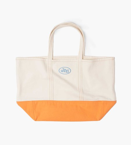 Reception Reception Shopper Bag White & Orange