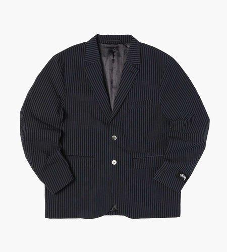 Stussy Stussy Stripe Seersucker Sport Coat Blue