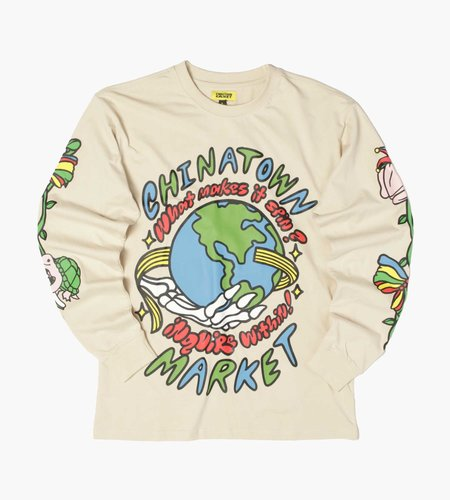 China Town Market China Town Market Inquire From Within Bone Longsleeve T-Shirt Bone