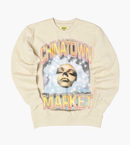 Chinatown Market Chinatown Market Through The Foam Crewneck Sweatshirt Bone