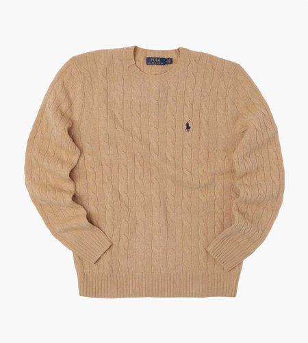 Polo Ralph Lauren Polo Ralph Lauren Longsleeve Cable Cn Long Sleeve Sweater Camel Melange