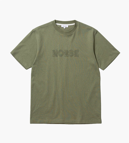 Norse Projects Norse Projects Johannes Norse Logo Tee Linden Green
