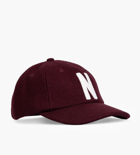Norse Projects Norse Projects Wool Sports Cap Eggplant Brown