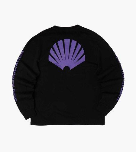 New Amsterdam Surf Association New Amsterdam Surf Association Logo Longsleeve Black Prism Violet