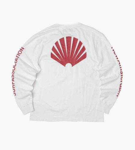 New Amsterdam Surf Association New Amsterdam Surf Association Logo Longsleeve White Crimson