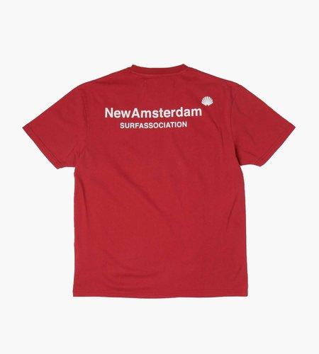 New Amsterdam Surf Association New Amsterdam Surf Association Logo Tee  Crimson White