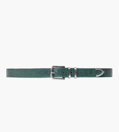 Stussy Stussy Gator Leather Dress Belt green