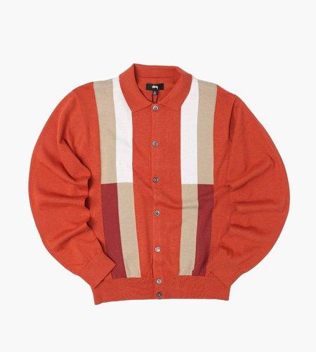 Stussy Stussy Color Block Sweater Burnt Orange