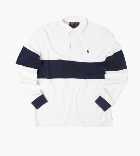 Polo Ralph Lauren Polo Ralph Lauren Ls Rugby M2 Long Sleeve Rugby Deckwash White French Navy