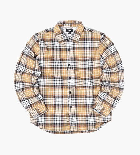 Stussy Stussy Quilted Lined Plaid Shirt copper