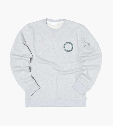 Norse Projects Norse Projects Vagn Bmc Logo Print Sweater Light Grey Melange