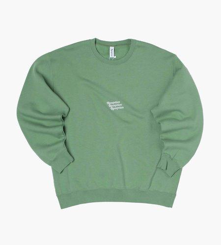 Reception Reception Club Sweat Core Logo Brushed Fleece Sage Green