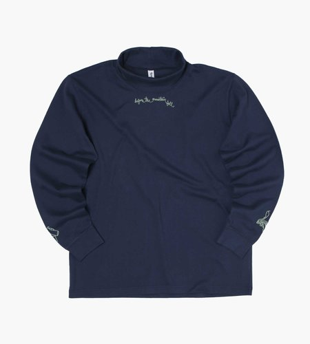 Reception Reception LS Rugby Roll Neck Tee Double Jersey DK Blue