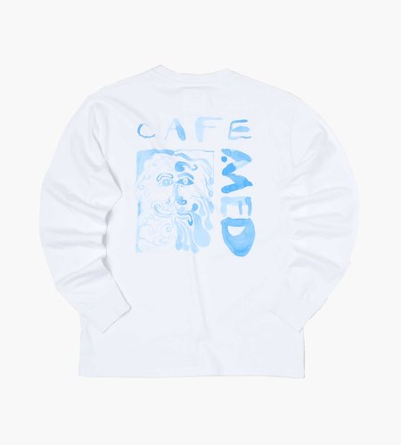 Reception Reception LS Tee Cafe Med Single Jersey White